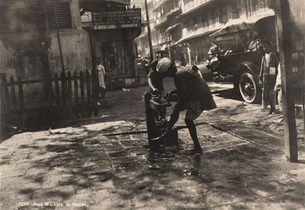 Man Washing his Foot - Bombay (Mumbai) India 1920's