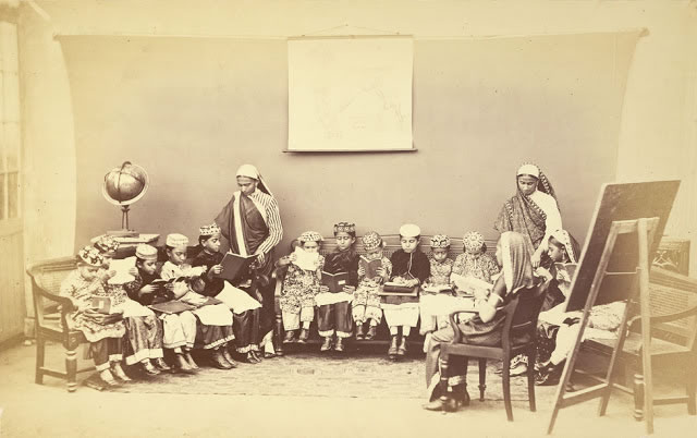 Photograph of a Girls' School at Bombay (Mumbai) in Maharashtra - 1873