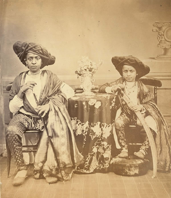 Two Maratha Boys from Akalkot - Bombay (Mumbai) 1867