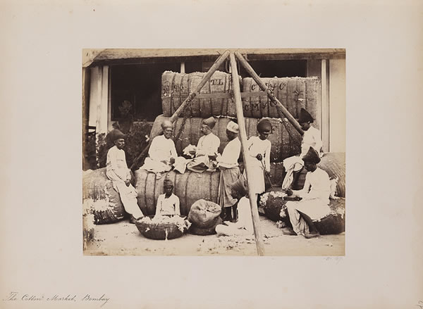 The Cotton Market, Bombay (Mumbai), 1855-1862