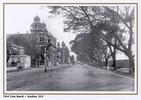 Madras (Chennai) First Line Beach - 1915
