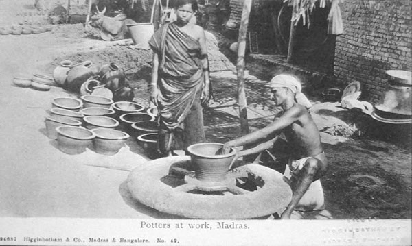 Potters at Work - Madras (Chennai)