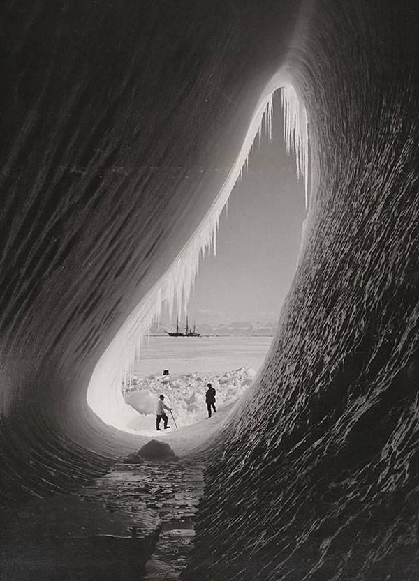 A grotto in an iceberg seen during the British Antarctic Expedition, January 5, 1911.