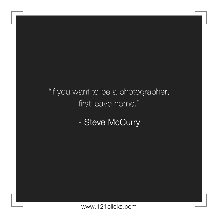 If you want to be a photographer,
