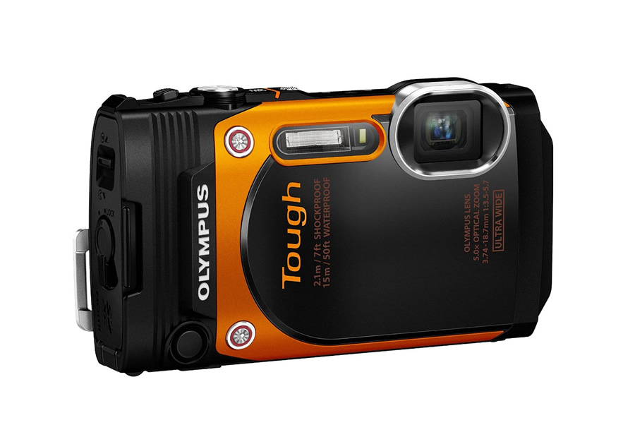 Olympus TG-860 Tough Waterproof Digital Camera with 3-Inch LCD Waterproof to 50 ft., Shockproof to 7 ft., Freeze proof to 14 degrees F, Crushproof to 220 LBF 21mm Ultra-wide lens with 5x optical zoom & 180 degree tilting LCD Sportcam mode (60p movies, High-Speed movies, Time-Lapse movies) Art Filters and in-camera sweep panorama capabilities Built in Wi-Fi & GPS