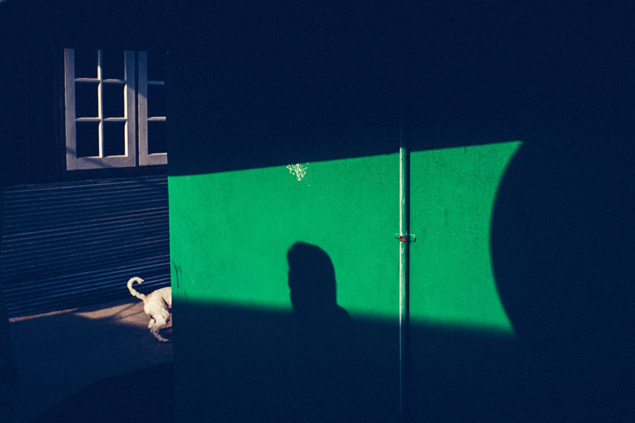 Green Wall Shadow - Street Photography and the art of composition photos