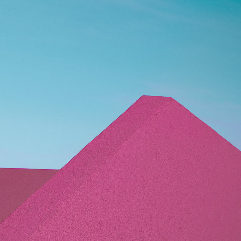 A Play of Colors on Minimalistic Architectures Captured By Emilie Mori