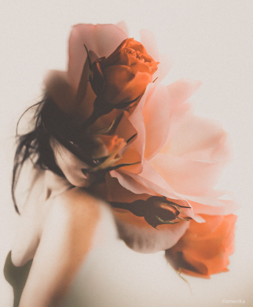 Hiding Behind The Flowers: Fine Art Photography By Omerika