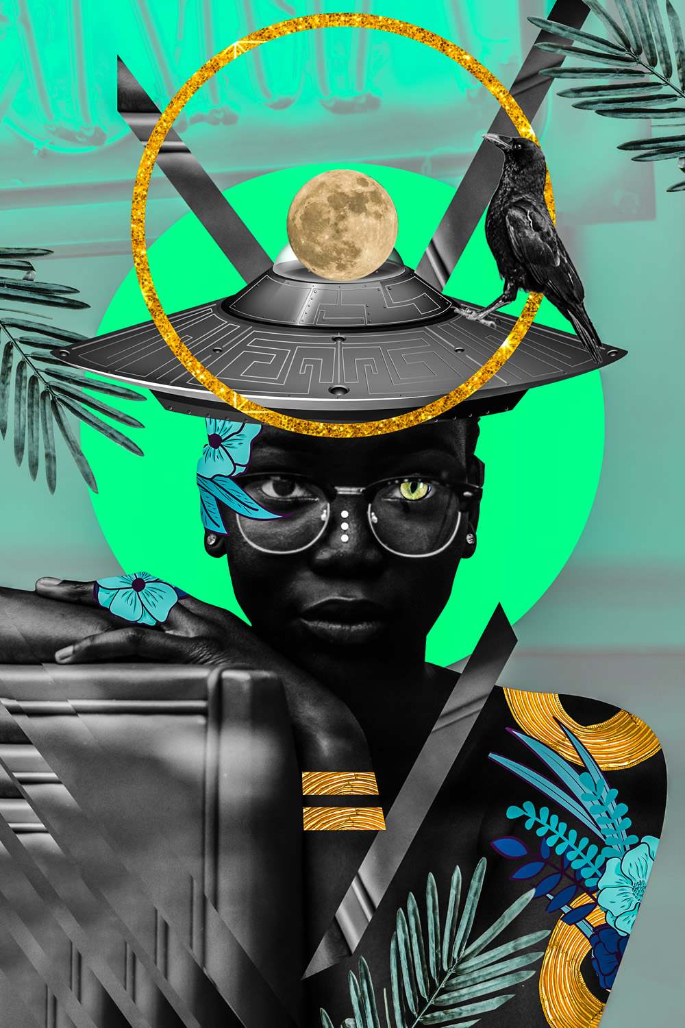 Lost In The Island: Electric and Vivid Collages by Kaylan M