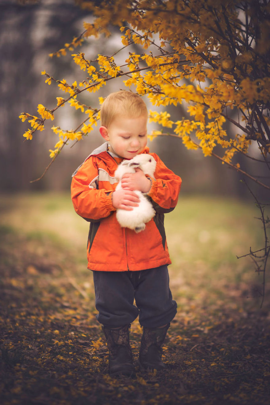 Most Beautiful Photos Of Kids And Barnyard Animals By Phillip Haumesser