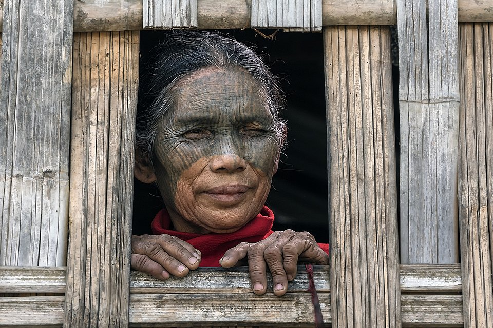 Traditional tattoo face- The Best Photos of Women
