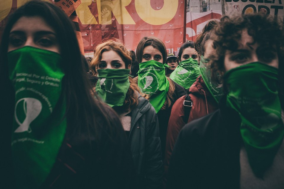 Women protesting for legal abortion in Argentina- The Best Photos of Women