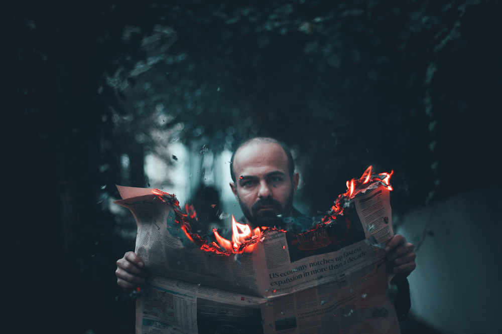 Reading & Writing: Step By Step Of A Conceptual Photo By Alper Yesiltas