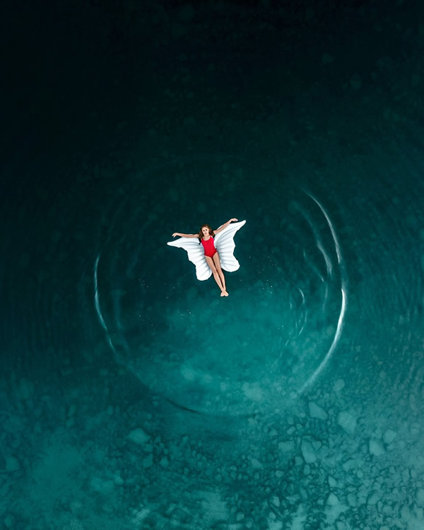 Flying in the water