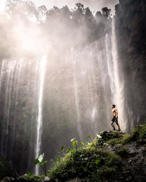Indonesia's largest waterfall