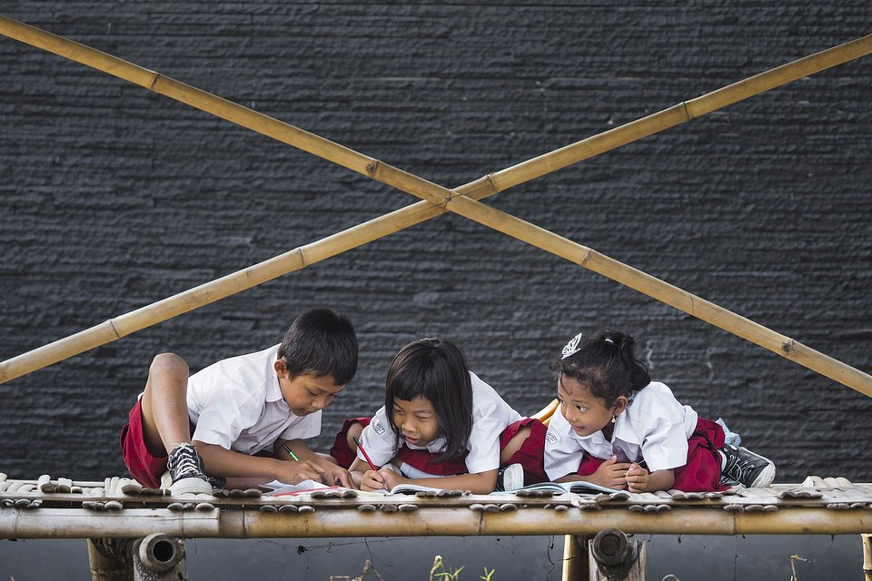 Three of them learn - Indonesia