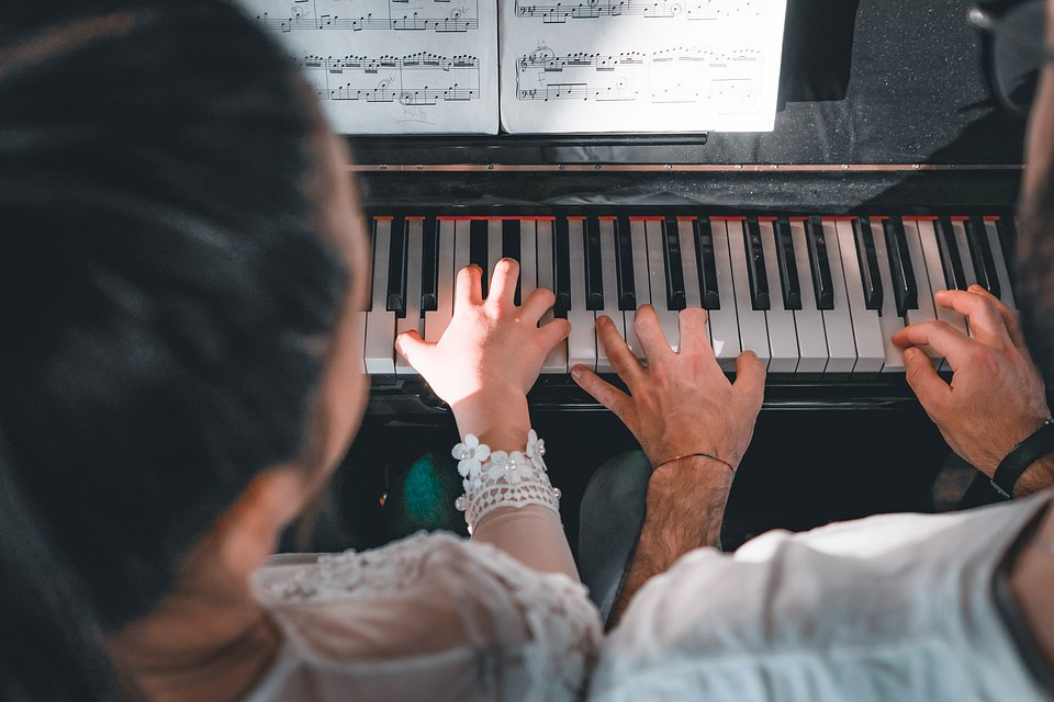 Learning to play the piano - Italy