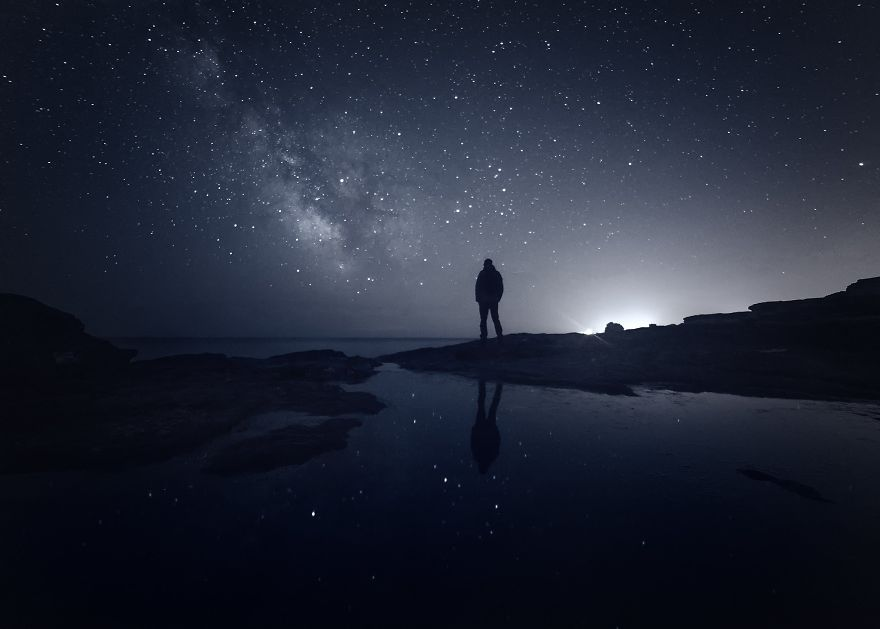 Me In Front Of The Lens Looking At The Milky Way (Black Sea)