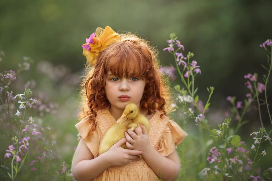 My Daughter's Beautiful Summer Holidays With Two Ducks By Maria Presser