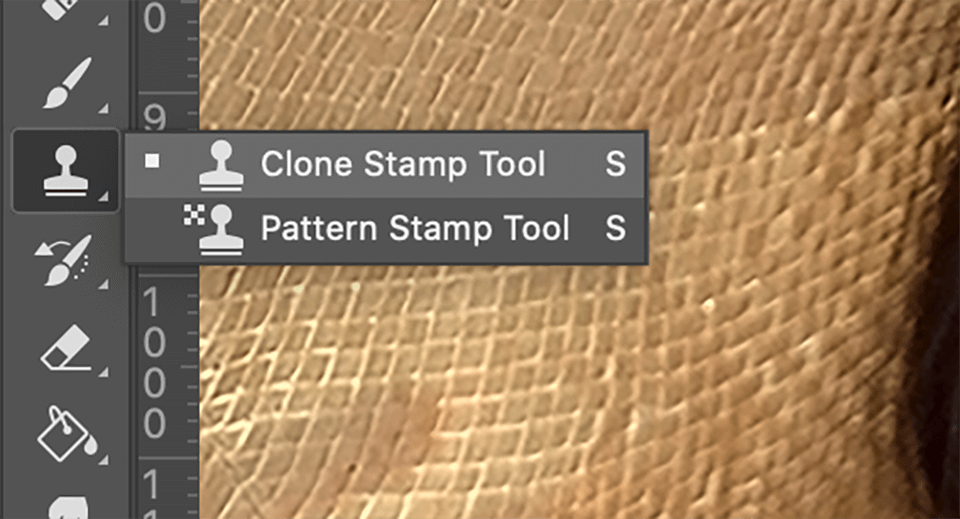Use the Clone Stamp Tool in Areas with More Texture