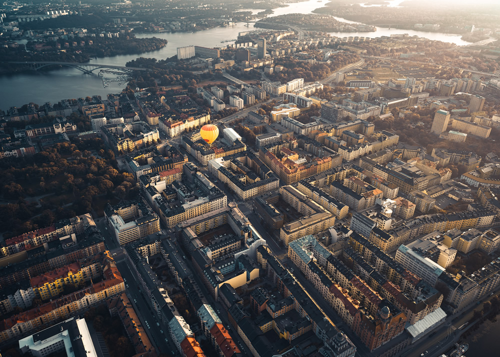 Stockholm From Above: Beautiful Aerial Photography By Tobias Hägg