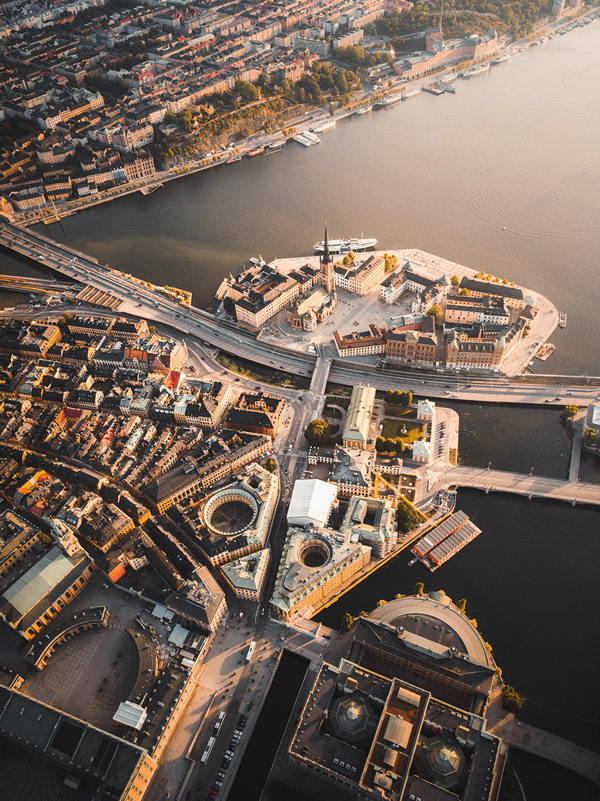 Stockholm From Above: Beautiful Aerial Photography By Tobias Hagg