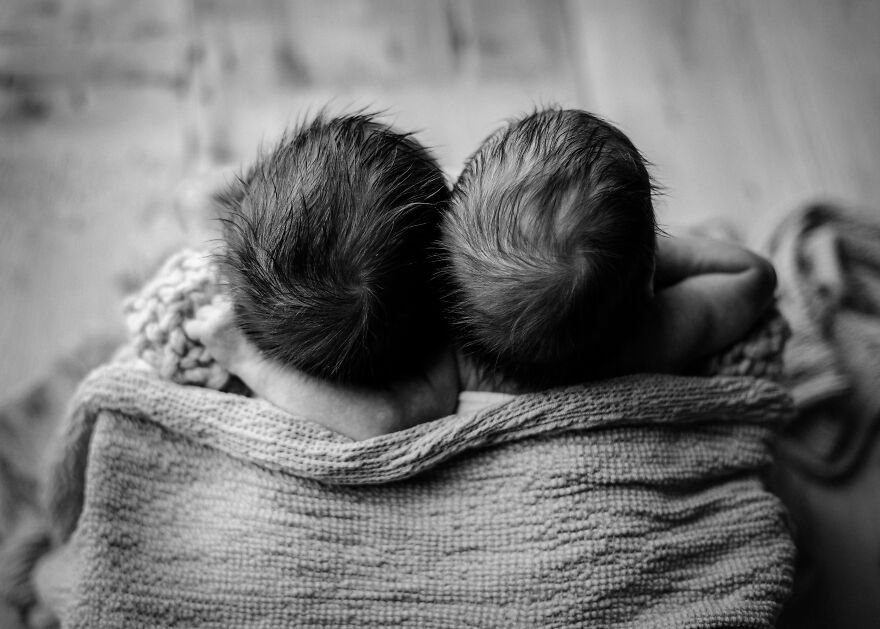 Newborn Twins In Chicago by Bethany Hope