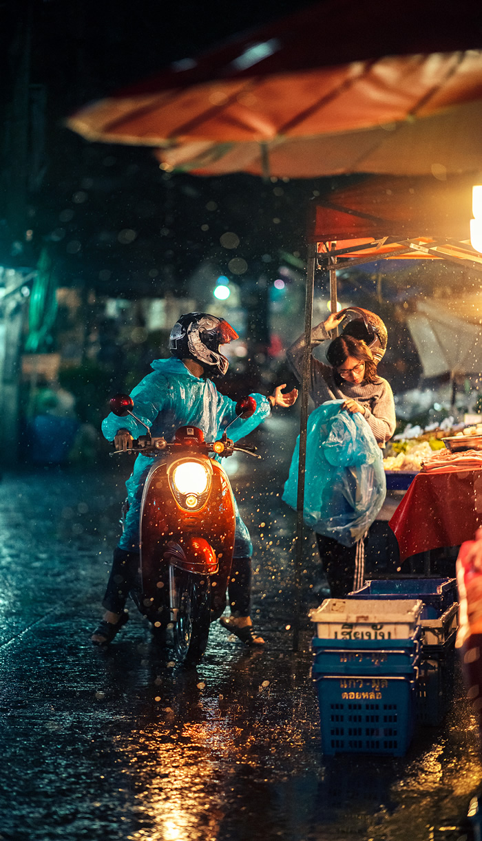 One Rainy Evening In Chiang Mai, Thailand By Ashraful Arefin
