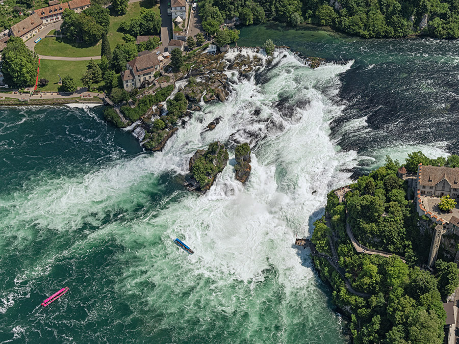 Rhine Falls: Amazing Aerial Photography By Bernhard Lang