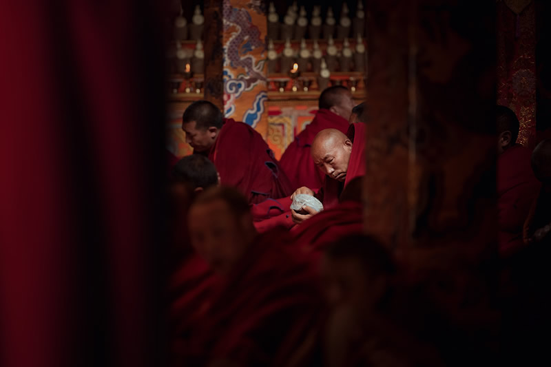 The Daily Life Of Tibetan Buddhist In The Temple By Li Ye
