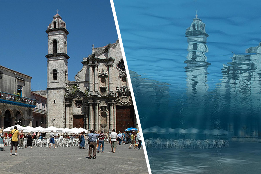20 Photos Shows How Famous Places Might Look Like In 2050 When The Global Temperature Rises